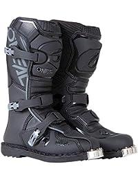 0332-103 Unisex-Child Element Dirtbike Boots (Black, 3)