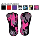 Knee Sleeves (SOLD AS A PAIR of 2) Compression and Support for Weightlifting, Powerlifting and CrossFit - 7mm Neoprene Sleeve for the Best Squats - Both Women & Men - by Bear KompleX, PINK CAMO 7mm M