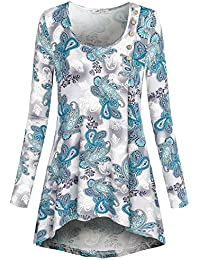 SeSe Code Women's Long Sleeve High Low Hem Casual Tunic...