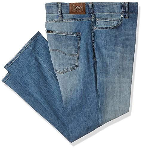 Big And Tall Cotton Jeans (LEE Men's Big and Tall Modern Series Extreme Motion Straight Fit Jean, Radical, 44W x 30L)