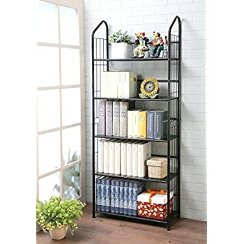 find and bookcase savings homelegance bookshelf metal on brown best shop wood the