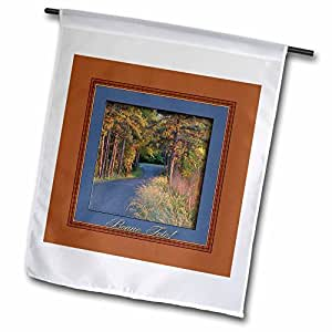 Beverly Turner Birthday Photography - Colors at Sundown, Happy Birthday in French (Canada), Bonne Fete - 18 x 27 inch Garden Flag (fl_43358_2)
