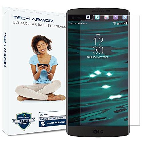 tector, Tech Armor Premium Ballistic Glass LG V10 Screen Protectors [1] ()