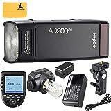 Godox AD200Pro TTL 2.4G HSS 1/8000s Pocket Flash Light Double Head 200Ws with 14.4V/2900mAh Lithium Battery and Godox XPro-N Flash Trigger Compatible for Nikon Camera