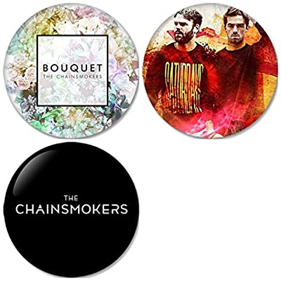 The Chainsmokers : Bouquet Pinback Buttons Badges/Pin 1.25 Inch (32mm) Set of 3 New
