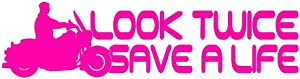StickerDad Look Twice Save A Life V1 Vinyl Decal Size: 8