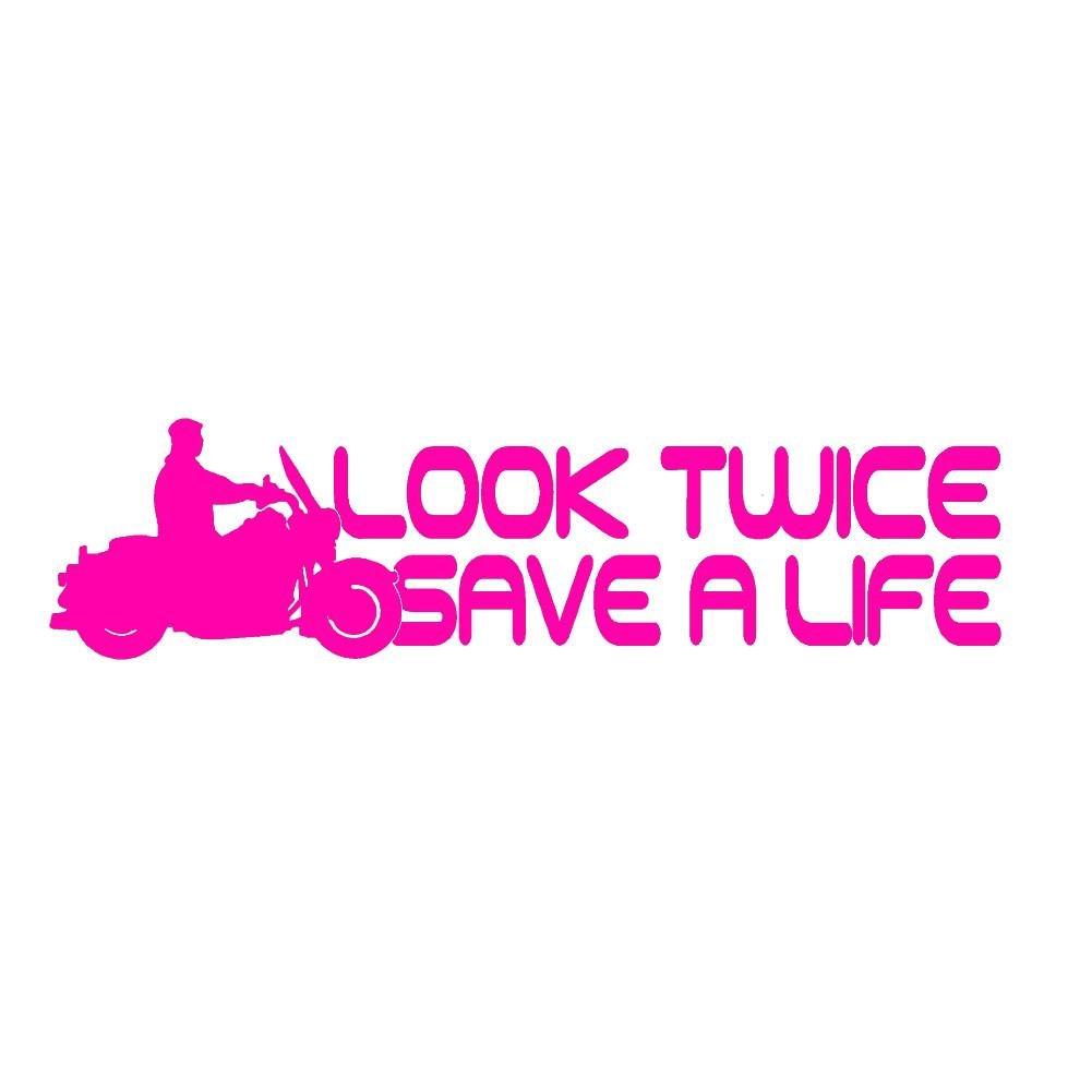 Look Twice Save stickerdad a Life Save v1ビニールデカールby Look stickerdad – サイズ: 8インチ、カラー:ホットピンク – Windows、壁、バンパー、ノートパソコン、ロッカー、など。 B0748ML425, ミナミマキムラ:d19cbd72 --- imagenesgraciosas.xyz