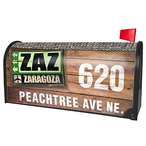 NEONBLOND Custom Mailbox Cover Airportcode ZAZ Zaragoza]()
