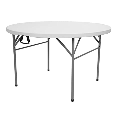 Amazon.com: VINGLI mesa redonda plegable comercial, mesa de ...