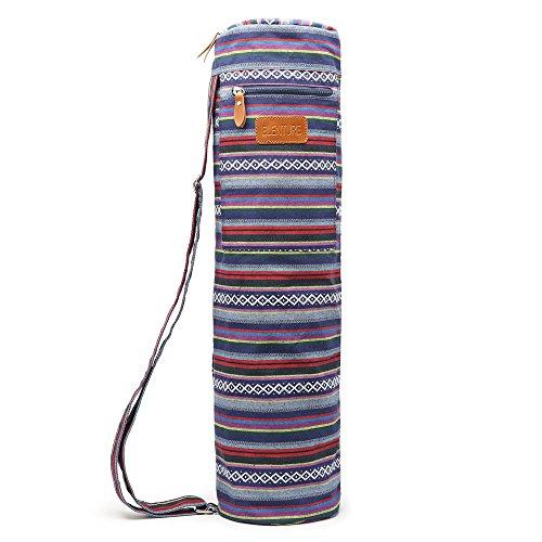 Sac pour tapis de yoga Elenture, avec fermeture éclair et poches de rangement multifonctions, multicolore