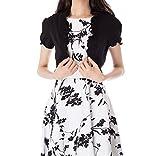 Kate Kasin Womens Black Bolero Shrug Formal Wedding Shrugs and Boleros Black,M