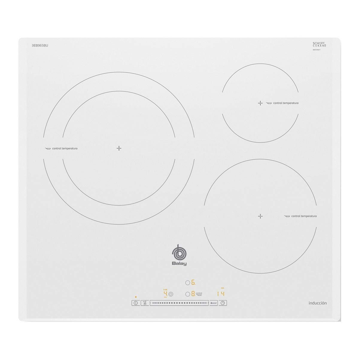 Balay 3EB965BU hobs Blanco Integrado Con - Placa (Blanco ...