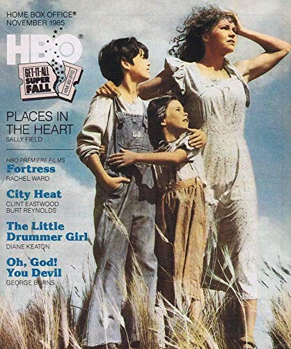 ORIGINAL Vintage November 1985 HBO Magazine Places in the Heart Sally Field