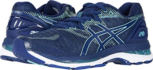 ASICS Women's Gel-Nimbus 20 Running Shoe, Indigo Blue/Indigo Blue/Opal Green, 11.5 D US