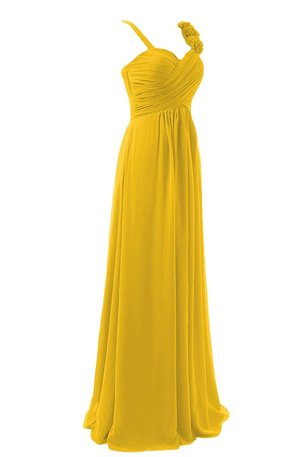 Sunvary Chiffon Spaghetti Straps Sweetheart Bridesmaid Dresses Evening Dresses Prom Gowns