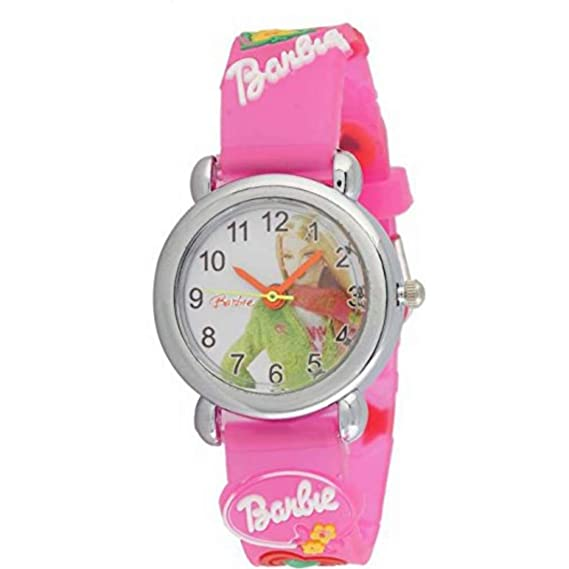 ca7ad0121fcd5 Barbie Analogue Black Dial Round Girl s Watch  Amazon.in  Watches