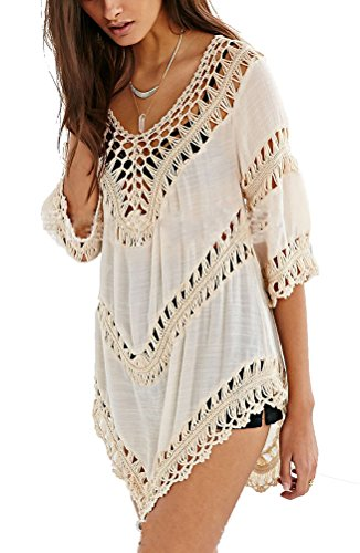 iNewbetter Womens Beach Dress Cover Up Beachwear Swimwear Shirt Top Pattern 08