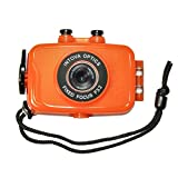 Intova Duo Waterproof HD POV Sports Video Camera, Orange