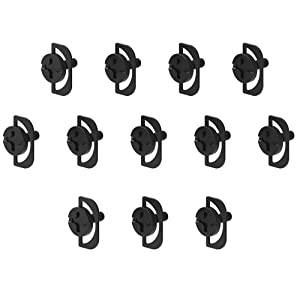 DKE 24pcs Thumb Screw Grip Knobs M4 x 10mm Thumb Screws for Phillips ASUS HP DELL ACER Computer LCD Monitor Display Screen PC VESA Stand TV Mounting Head Screw, Black