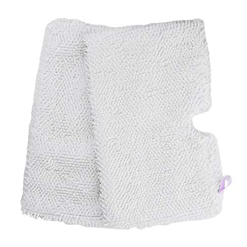 2 Pack Washable Shark Steam Mop Pads Replacement for S3500 series, S3501, S3601, S3550, S3901, S3801, SE450, White