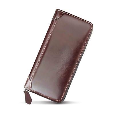 54dc684b1bc1 Amazon | 【父の日ギフト】本革長財布 メンズウォレットレザー 財布 ...