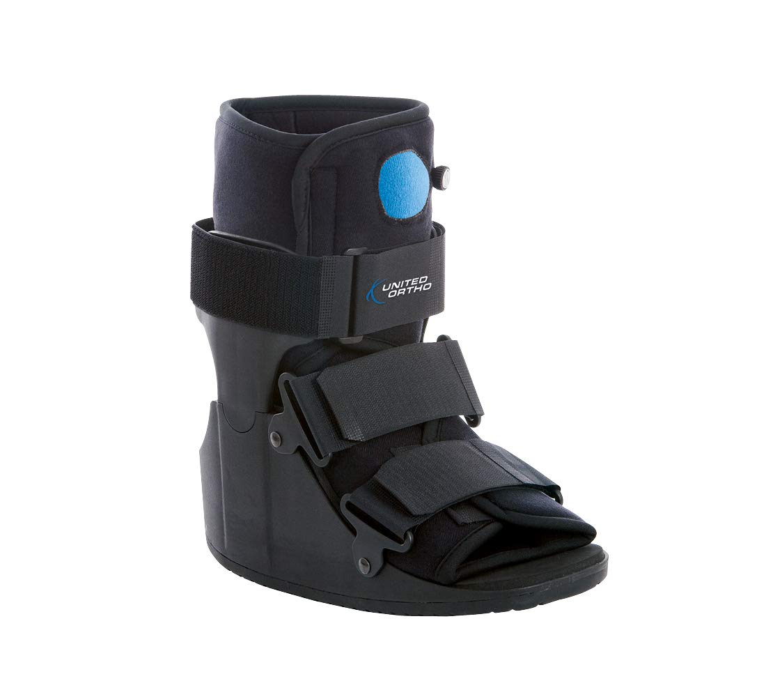 United Ortho Short Air Cam Walker Fracture Boot, Extra Small, Black