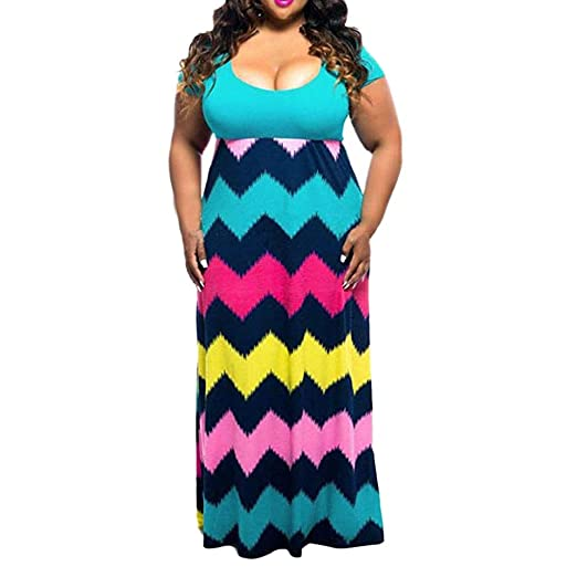Amazon.com: Nadition Ladies Plus Size Dress 🥑 Women\'s ...