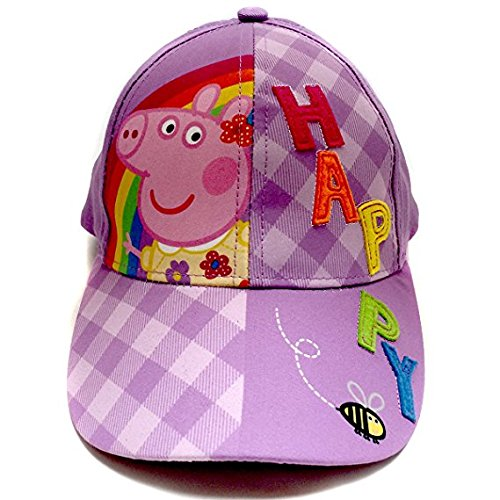 Image Unavailable. Image not available for. Color  Peppa Pig Purple   quot Happy quot  Baseball Cap 20df3c5c6f4c