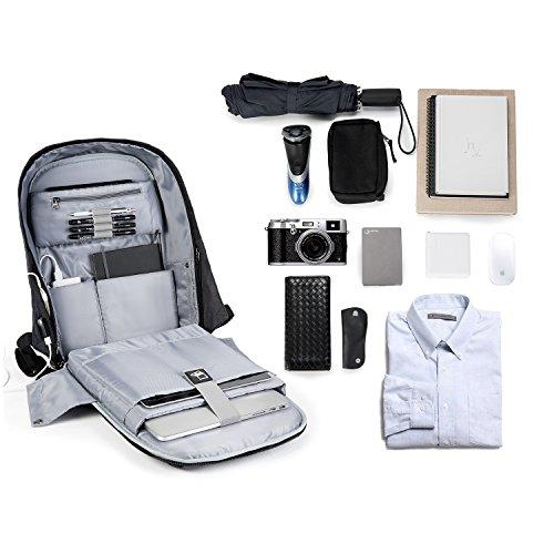 KOPACK Waterproof Anti-thief Laptop Backpack Usb Charging Port Business Travel Backpack Bag Men Rain Cover 15.6 Inch Grey