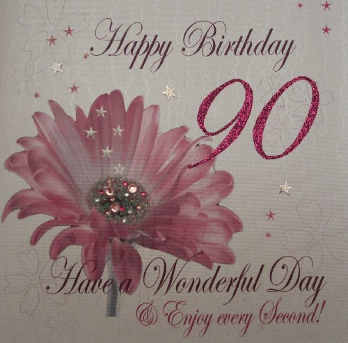 White Cotton Cards 1 Piece Happy 90th Birthday Extra Large Birthday