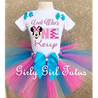 Personalized Minnie Mouse 1st birthday Tutu Outfit Set