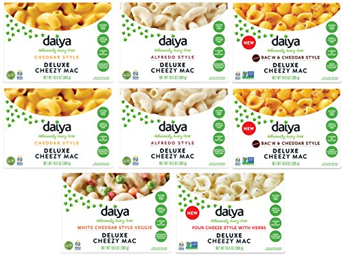 Daiya Cheezy Mac, Variety Pack with 5 Flavors :: Rich & Creamy Plant-Based Mac & Cheese :: Deliciously Dairy Free, Vegan, Gluten Free, Soy Free :: With Gluten Free Noodles (8 Pack)