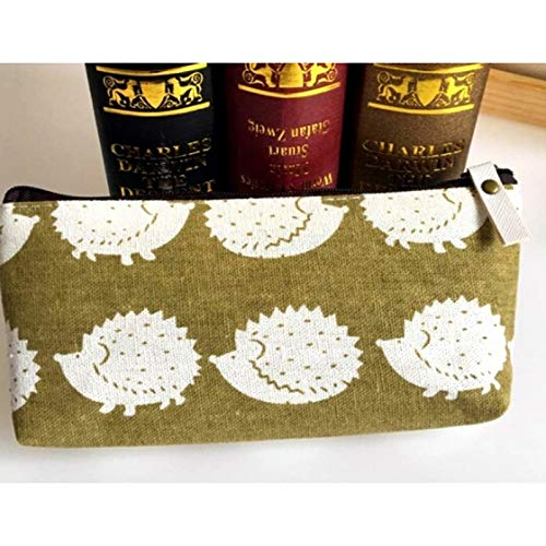 Caja de algodón - Lovely Papelería algodón y lino bolsas de lápices estuche lindo estuche de lápices caja de oficina y: Amazon.es: Oficina y papelería