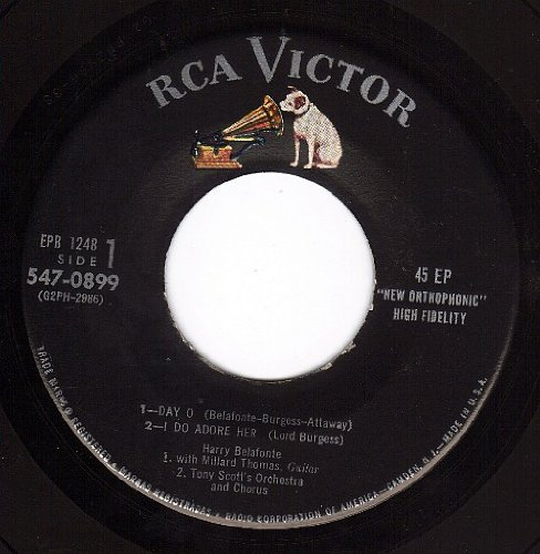 Day O/I Do Adore Her/Jamaica Farewell/Will His Love Be Like His Rum/Star O/Hosanna/Brown Skin Girl/Dolly Dawn (NM EP PS & 45 rpm)