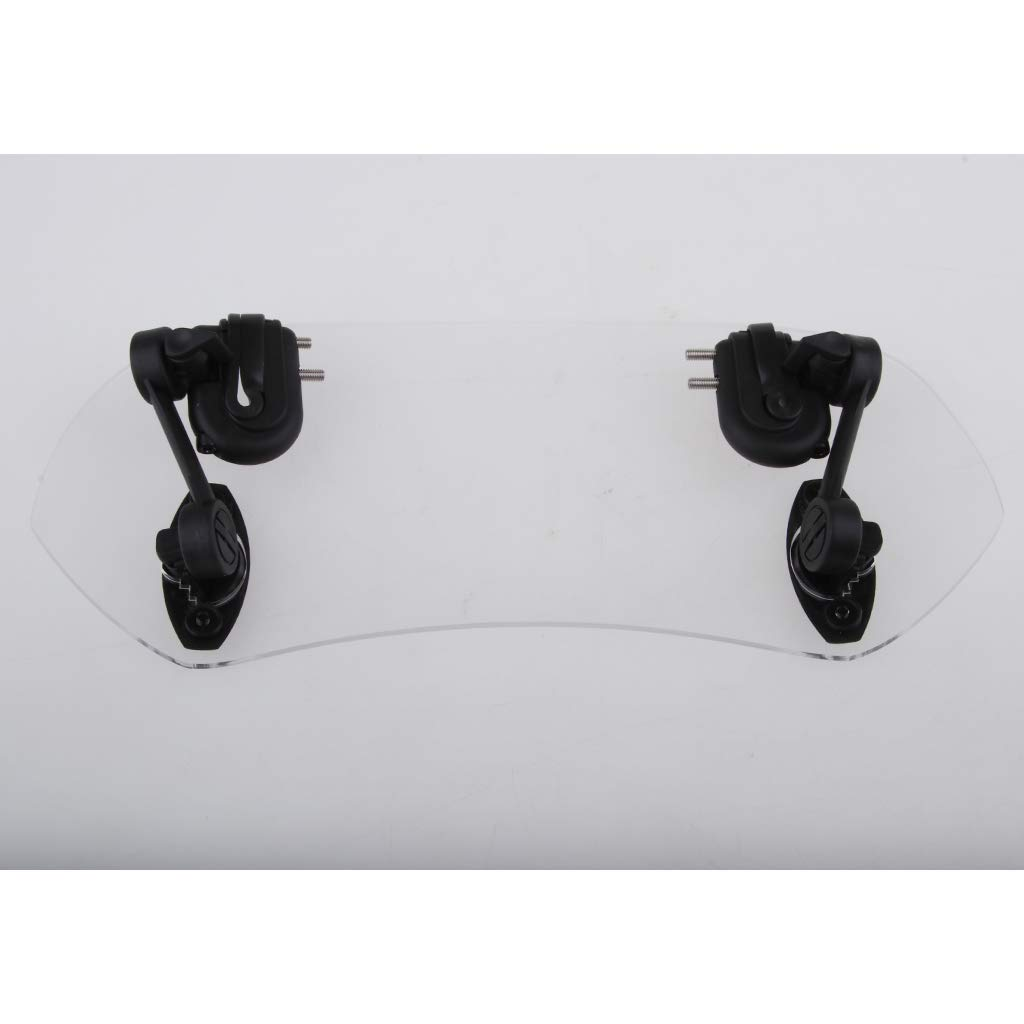 HANEU 28cm Motorcycle Clip-on Windshield Windscreen Extension Deflector Universal