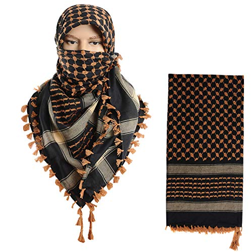 Micoop Large Size Premium Shemagh Scarf Arab Military Tactical Desert Scarf Wrap(48 by 48 inches)