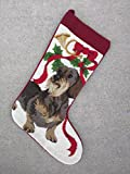 Best New Clearance Deal Terrier Rescue Mutt Mixed Breed Dog Lover Fan Owner Needlepoint & Velvet Large Christmas Stocking Unique Clever Novelty Fun Silly Birthday Gift Idea for Sale 2018 (Style 3)