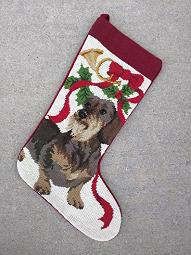 Best New Clearance Deal Terrier Rescue Mutt Mixed Breed Dog Lover Fan Owner Needlepoint & Velvet Large Christmas Stocking Unique Clever Novelty Fun Silly Birthday Gift Idea for Sale 2018 (Terrier Needlepoint Christmas Stocking)