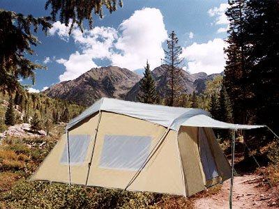 Trek-Four-Season-Cotton-Canvas-Tent-10×16- & Trek Four Season Cotton Canvas Tent 10×16 (Sleeps 9) Full Rain ...