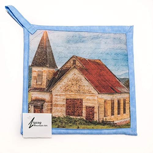 Zigzag Mountain Artpot Holder 8 Inch Hot Pad The Old Church Dailymail
