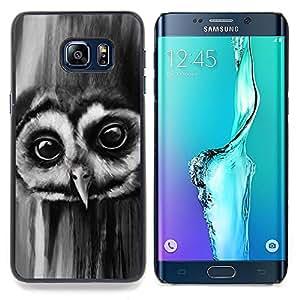 "Planetar ( Noctámbulo Ojos Grandes Aves Bosque Negro Blanco"" ) Samsung Galaxy S6 Edge Plus / S6 Edge+ G928 Fundas Cover Cubre Hard Case Cover"