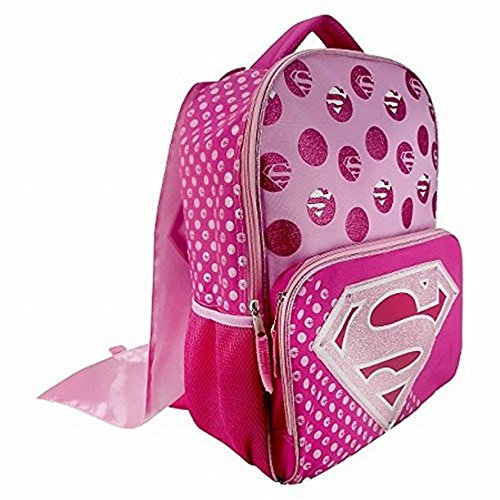DC Comics Super Girl Backpack with Detachable Cape and Side Mesh Pockets]()