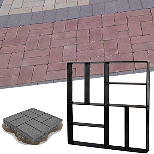 "15.7""x15.7""x1.57"" Concrete Molds Reusable Walk Maker Stepping Stone Path Maker Paver Yard Patio Lawn Garden DIY Walkway Pavement Paving Moulds (8-Grid)"