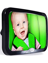 Safe Baby Tech Baby Car Mirror, Crystal Clear Reflection BOBEBE Online Baby Store From New York to Miami and Los Angeles