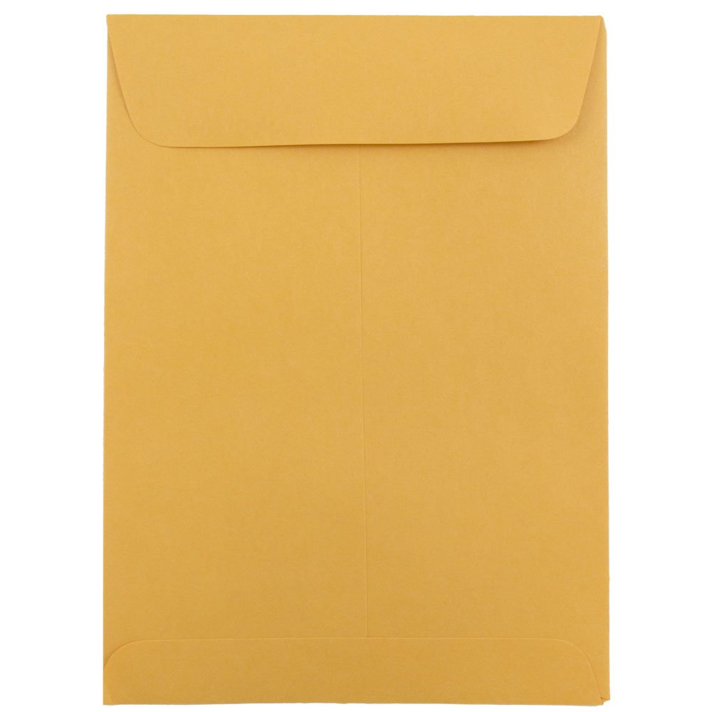 JAM Paper® 139.7 mm x 190.5 mm (5.5 x 7.5) Open End Envelopes - Brown Kraft - 25 envelopes per pack