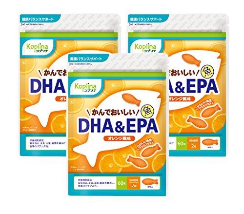 豊かにするデッキ一族かんでおいしい魚DHA&EPA 60粒(オレンジ風味)日本国内製造 チュアブルタイプ (1) (3)