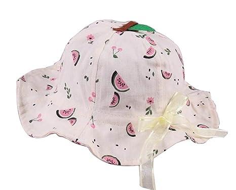 sandía-1] Sombrero del sol de las niñas Sombrero del cubo de ...