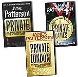 James Patterson, Private, Private London, & Private Games Collection 3 Books Set