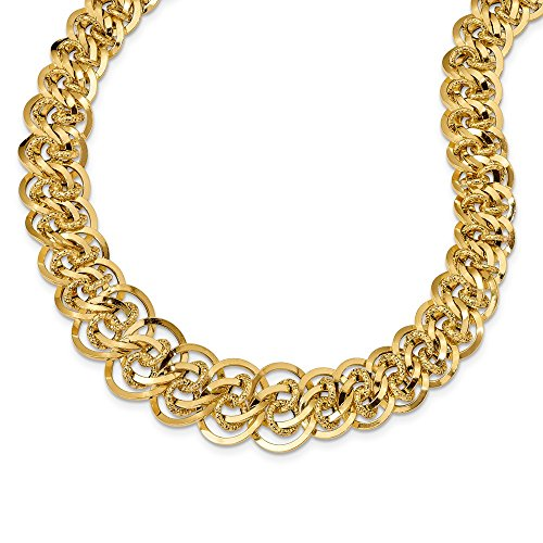 (Leslie's 14K Yellow Gold Polished & Textured Fancy Link)