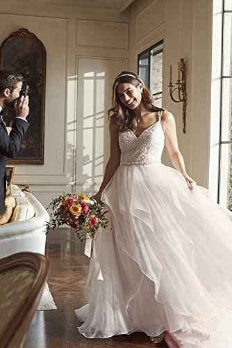 with Garza Ball Bridal Blush Style Double Straps David Ivory Wedding Gown s WG3903 Dress nZABCEqx0w